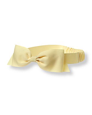 Daisy Yellow Bow Headband at JanieandJack
