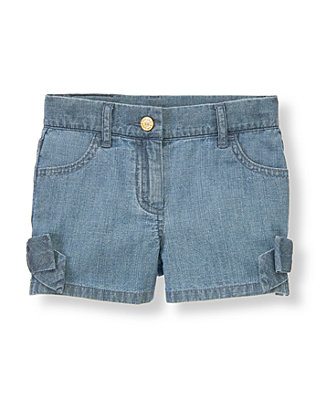 Chambray Bow Chambray Short at JanieandJack