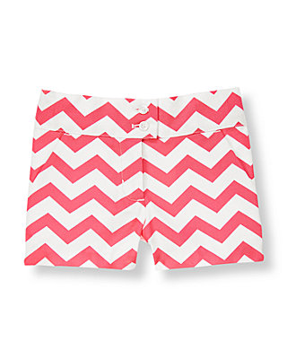 Rosy Pink Stripe Chevron Short at JanieandJack