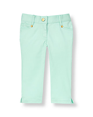 Morning Mint Colored Crop Pant at JanieandJack