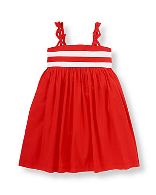 American Red Bow Striped Dress at JanieandJack