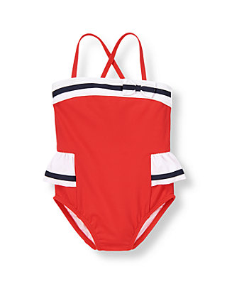 American Red Ribbon Striped Swimsuit at JanieandJack