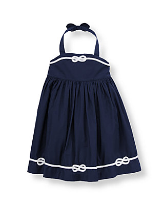 Marine Navy Sailing Knot Dress at JanieandJack