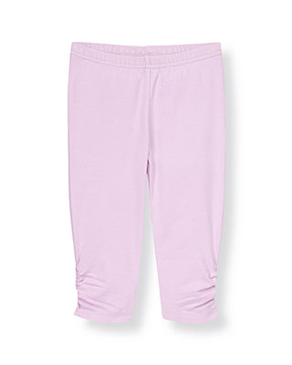 Lilac Purple Shirred Legging at JanieandJack