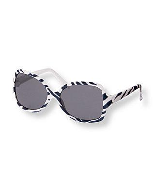 Navy Zebra Zebra Sunglasses at JanieandJack