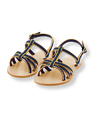 Navy/Gold Gold Tipped Sandal at JanieandJack
