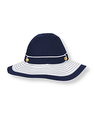 Marine Navy Colorblock Sunhat at JanieandJack