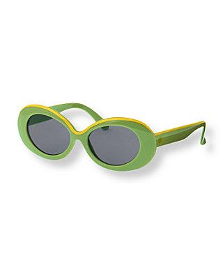 Leaf Green Oval Sunglasses at JanieandJack