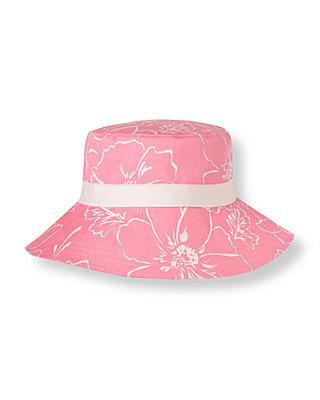 Pink Peony Bow Floral Sunhat at JanieandJack