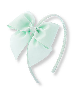 Morning Mint Ribbon Bow Headband at JanieandJack