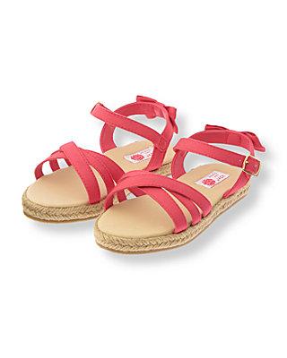 Rosy Pink Bow Espadrille Sandal at JanieandJack