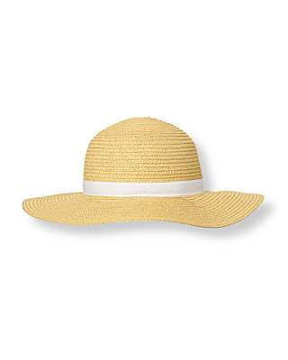 Metallic Gold Metallic Gold Straw Sunhat at JanieandJack