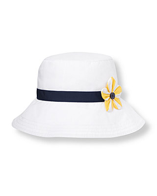 Pure White Flower Sunhat at JanieandJack