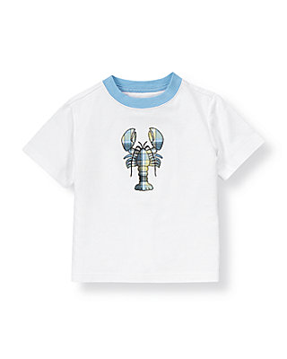 Pure White Lobster Tee at JanieandJack