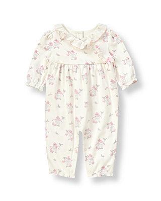 Baby Girl Ivory Songbird Songbird Kimono One-Piece at JanieandJack