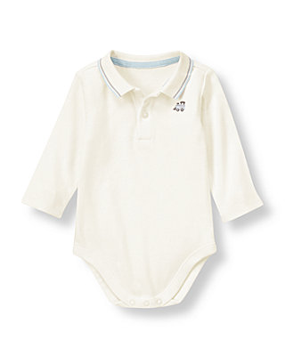 Ivory Train Polo Bodysuit at JanieandJack