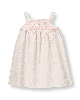 Soft Pink Blossom Smocked Floral Jumper at JanieandJack