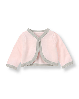 Soft Pink Tipped Cardigan at JanieandJack