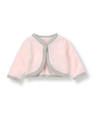 Soft Pink Tipped Cardigan at JanieandJack