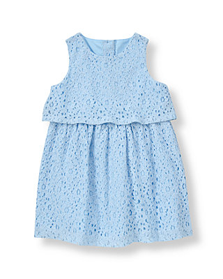 Nantucket Blue Tiered Lace Dress at JanieandJack