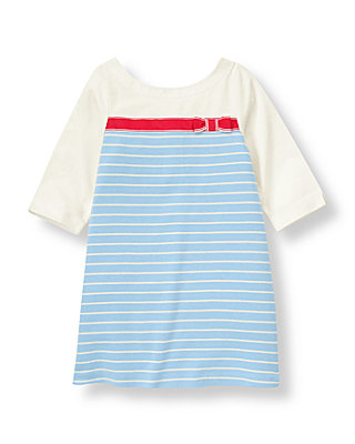 Nantucket Blue Stripe Ribbon Striped Dress at JanieandJack