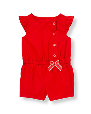 Crimson Bow Romper at JanieandJack