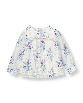 White Floral Blossom Top at JanieandJack