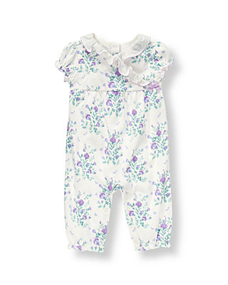 Baby Girl White Floral Blossom Kimono One-Piece at JanieandJack