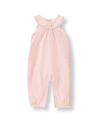 Pink Petal Floral Corduroy Overall at JanieandJack