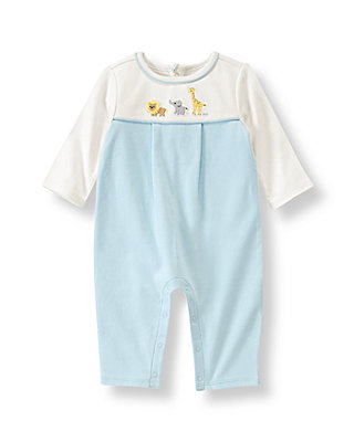 Baby Boy Pale Blue Animal One-Piece at JanieandJack