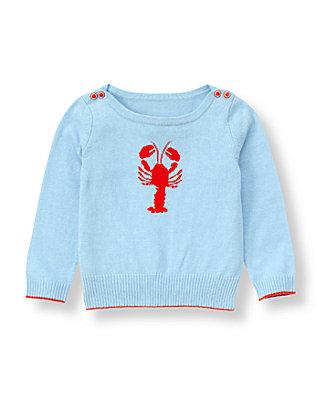 Nantucket Blue Lobster Sweater at JanieandJack