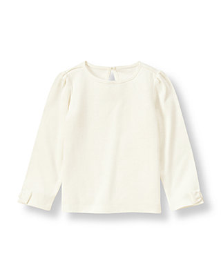 French Ivory Bow Sleeve Top at JanieandJack
