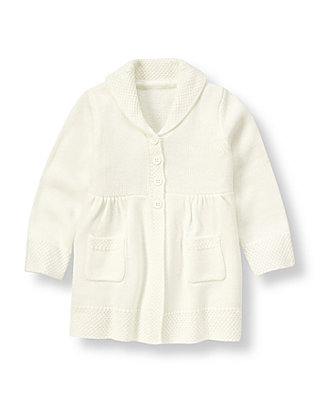 Ivory Sweater Coat at JanieandJack