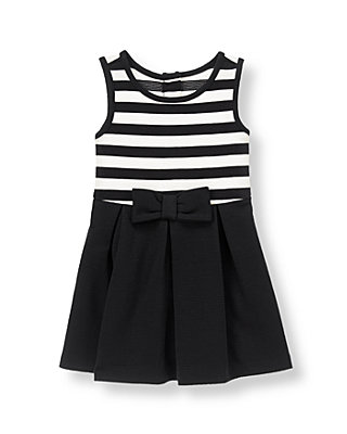 Black Stripe Striped Dress at JanieandJack