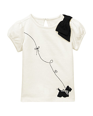 French Ivory Scottie Dog Top at JanieandJack