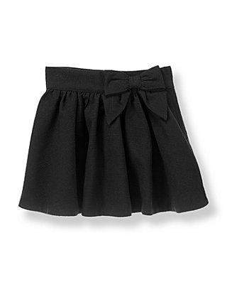 Black Bow Boucle Skirt at JanieandJack
