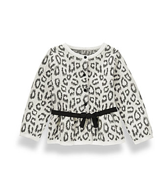 French Ivory Leopard Leopard Cardigan at JanieandJack