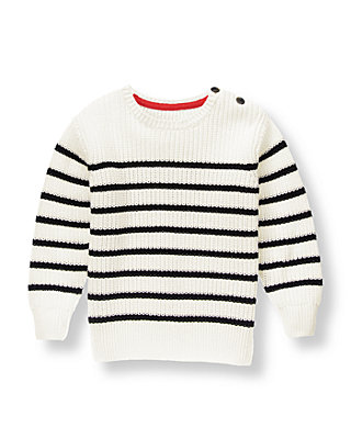 Black Stripe Striped Sweater at JanieandJack