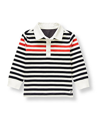 Black Stripe Striped Rugby Shirt at JanieandJack