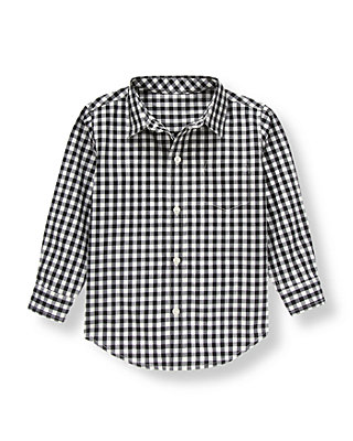 Black Check Gingham Shirt at JanieandJack