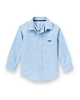 Skyway Blue Check Check Oxford Shirt at JanieandJack