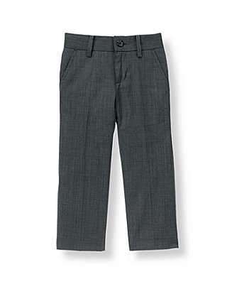 Classic Blue-Grey Wool Suit Trouser at JanieandJack