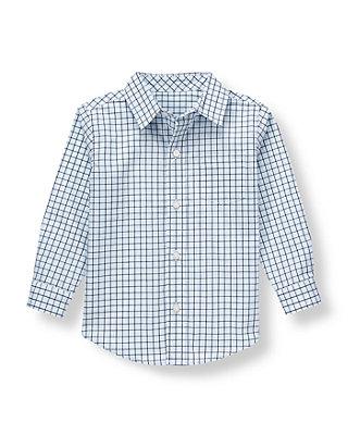 Blue Plaid Plaid Shirt at JanieandJack