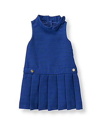 Violet Blue Pleated Boucle Jumper at JanieandJack