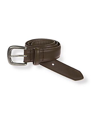 Dark Brown Leather Belt at JanieandJack