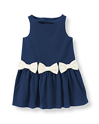 Navy Bow Dress at JanieandJack