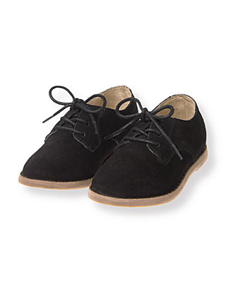 Black Suede Oxford Shoe at JanieandJack