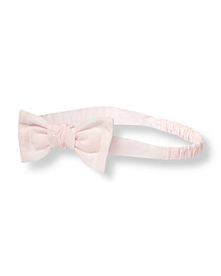 Soft Pink Bow Headband at JanieandJack