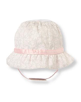 Soft Pink Blossom Floral Bonnet at JanieandJack