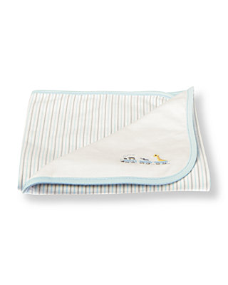 Ivory Train Crib Blanket at JanieandJack